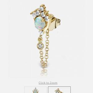 ISO🛑opal diamond tiara with chain earring